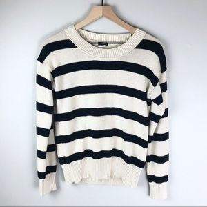 J.Crew women's sweater small navy & white stripe